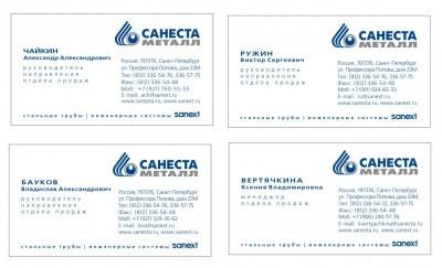 Дизайн Визитки Санеста