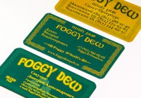 Печать шелкографических визиток